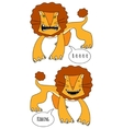 Angry and smiling lions vector image vector image