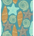 background with shells and starfish vector image vector image