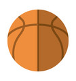 basketball ball equipment sport flat icon vector image vector image