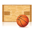 basketball court and ball vector image vector image