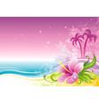 beach sea poster landscape hawaiian luau party vector image vector image