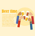 beer festival colorful poster vector image vector image