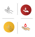 blood donation icon vector image vector image