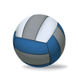 Blue and Grey Volleyball Isolated on White vector image vector image