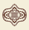 Brown Mandala Ornament vector image