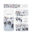 Business cards design skaters on rink vector image