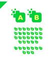 business corporate square letter font logo design vector image vector image
