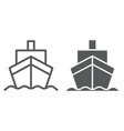 cargo ship line and glyph icon transportation and vector image vector image