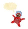 cartoon astronaut with speech bubble vector image
