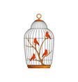 cartoon northern cardinals sitting on wooden vector image vector image