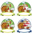 Cartoon turkey design vector image vector image