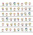 cartoons concept happy boys playing vector image vector image