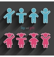 children icons set vector image