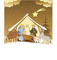 Christmas nativity scene vector | Price: 3 Credits (USD $3)