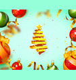 christmas tree tape design banner cover vector image vector image