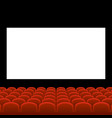 cinema movie theatre with red seats and white vector image vector image