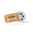 cinema ticket with tape vector image vector image