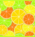 citrus seamless pattern fresh juicy orange vector image vector image