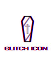 coffin icon flat vector image vector image