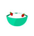 cottage cheese dairy strawberry vector image