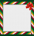 cute christmas or new year border with colored vector image vector image