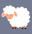 cute little sheep vector image vector image