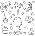 doodle of candy style collection stock vector image vector image