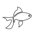 fish black color icon vector image vector image