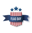 Flag Day badge vector image vector image