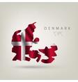 flag denmark as a country vector image