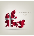 Flag of Denmark as a country vector image
