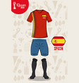 football sport wear russia 2018 vector image
