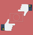 Frame of fingers or hands Flat style vector image