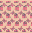 gifts and butterflies seamless pink pattern vector image vector image