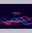 glowing wavy neon light streak abstract background vector image