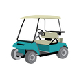 Golf car vector image
