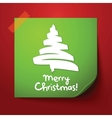 green paper note with christmas design vector image