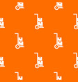hand cart with cardboards pattern seamless vector image vector image