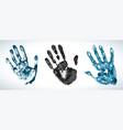 hand print set print human palm imprint vector image