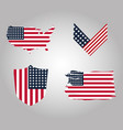 happy veterans day collection us flags vector image vector image