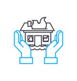 home insurance thin line stroke icon home vector image