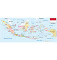 indonesia administrative map with flag vector image vector image