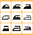 Iron Icons Set vector image vector image