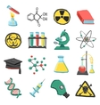 Laboratory chemistry icon set vector image