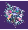 Let love Bloom floral card Colorful Valentine vector image vector image