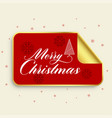 merry christmas golden sticker design vector image