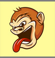 monkey chimp ape head mascot in cartoon style vector image