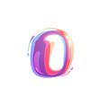 o letter logo formed watercolor splashes