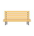 park wooden bench flat concept design vector image