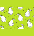 pears seamless pattern vector image vector image